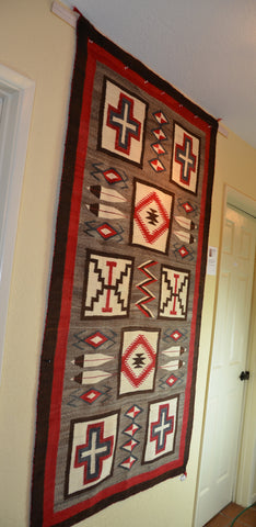Vintage Transitional American Indian Rug JB Moore Crystal