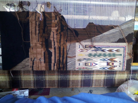 Pictorial Navajo Rug : Helene Nez : Looming Attractions - Getzwiller's Nizhoni Ranch Gallery