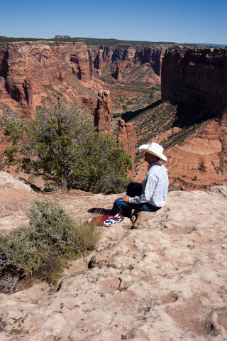 Steve overlooking Canyon de Chelly