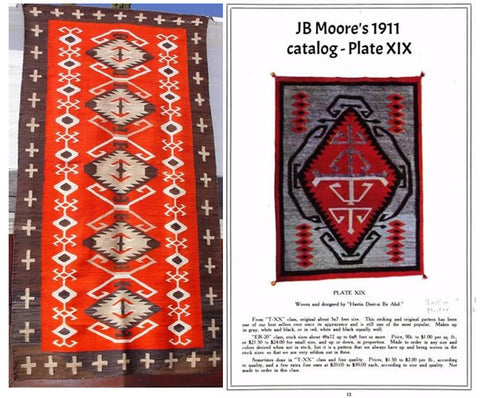Antique JB Moore American Indian Rug GHT 874