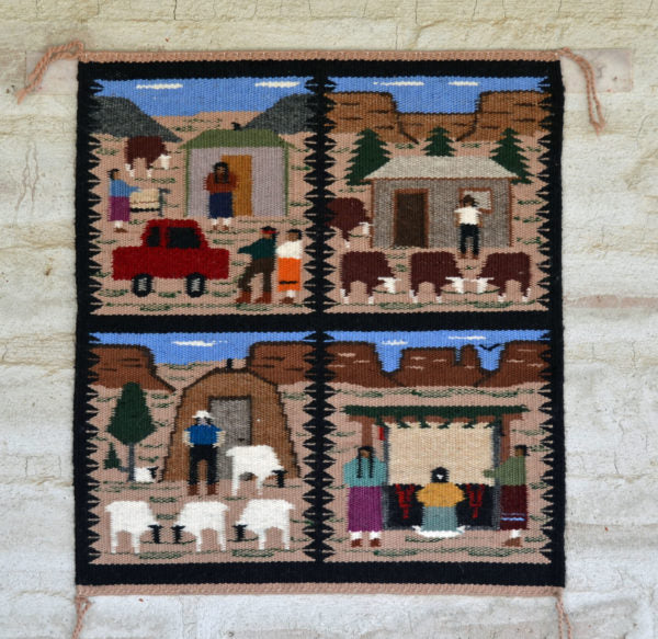 Navajo Lifestyle Pictorial Weaving