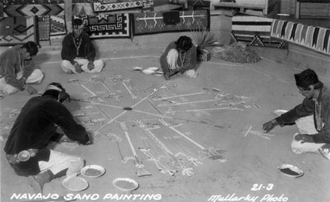 THE 'NAVAJO SANDPAINTING WEAVING' PRESERVES TRADITION AND CEREMONY