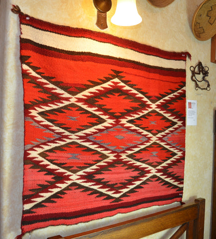 Vintage Transitional Single Saddle American Indian Blanket