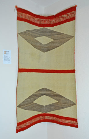 Transitional Antique American Indian Saddle Blanket