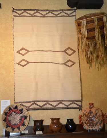 Antique Transitional American Indian Double Saddle Blanket