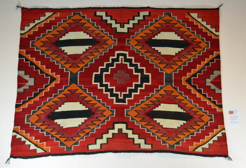 Vintage American Indian Transitional Rug