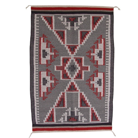 American Indian Rug Raised Outline Style