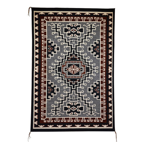 American Indian Rug Two Grey Hill Style