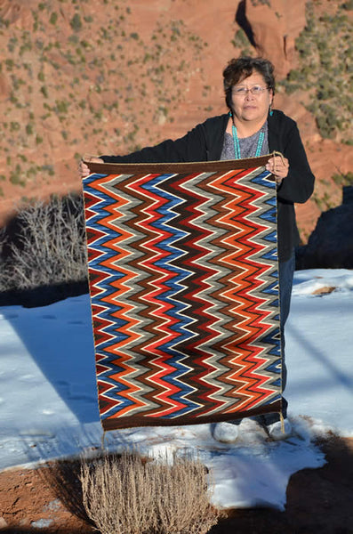 Award Winning Eye Dazzler design by Master Weaver Frances Begay