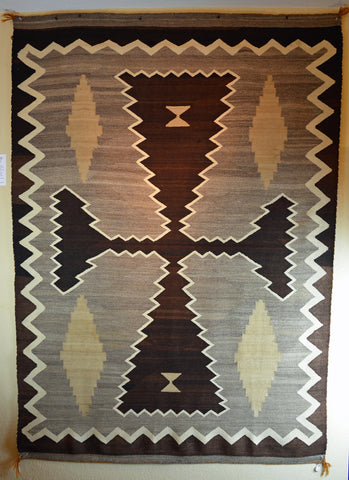 Antique Native American Rug Transitional Two Grey Hills