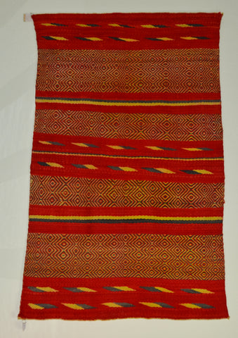 Vintage Transitional Double Saddle American Indian Blanket