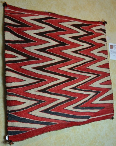 Vintage Transitional American Indian blanket single saddle blanket Rug