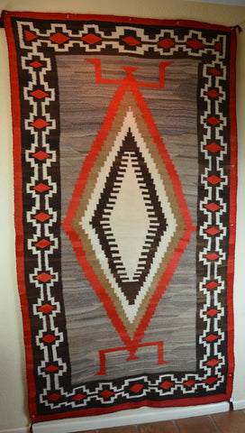 Vintage American Indian Rug Transitional weaving