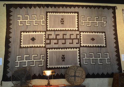 Transitional Antique Native American Rug Sampler