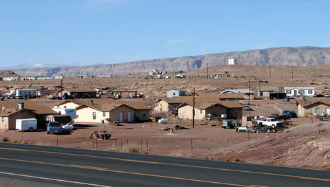 Modern Navajo homes on the reservation