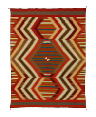 PC 258  This is a serape that has a Spider Woman Hole woven into the center, it's about 2""