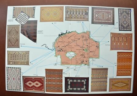 View a Navajo reservation map of the origin of each of the regional rug styles - a new window will open