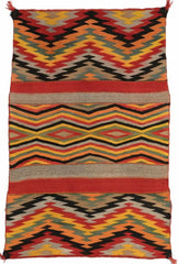 TWILL SERAPE NAVAJO WEAVING : HISTORIC : PC-39