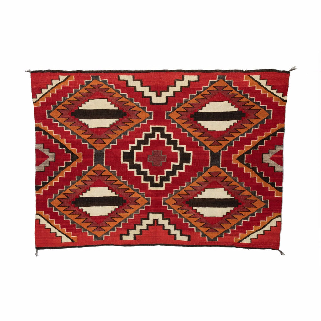 "SOLD 3rd Phase Chief Blanket Navajo Weaving : Historic : PC 72 : 50"" x 68"" - Getzwiller's Nizhoni Ranch Gallery"