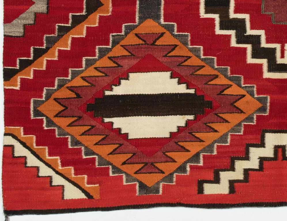 3rd Phase Chief Blanket Navajo Weaving : Historic : PC-72 - Chiefs Blanket - Historic Collection- Getzwiller's Nizhoni Ranch Gallery - NavajoRug.com