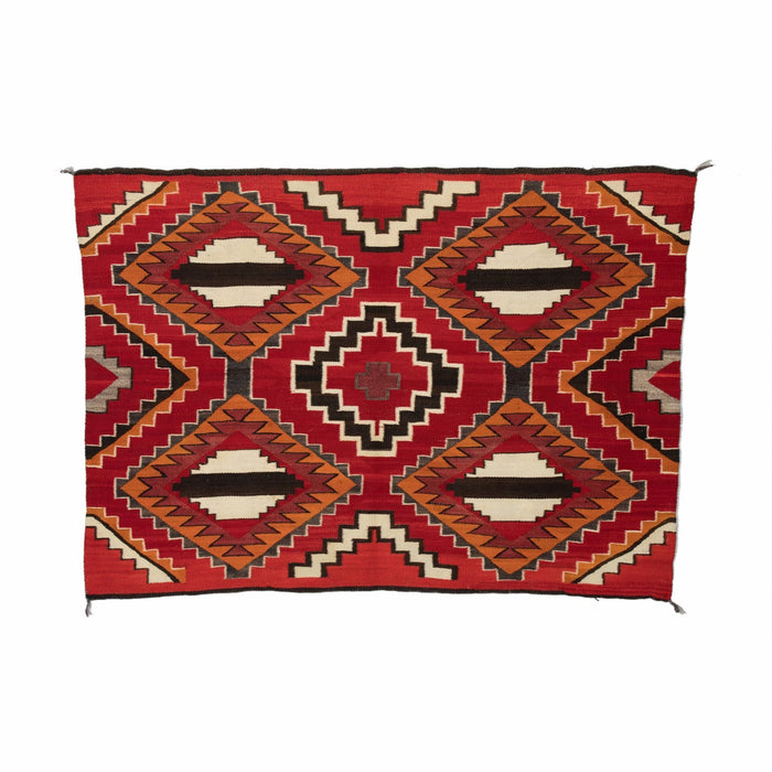 "SOLD 3rd Phase Chief Blanket Navajo Weaving : Historic : PC 72 : 50"" x 68"""