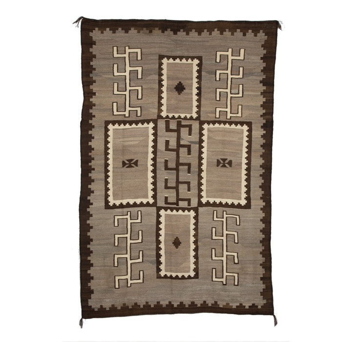 Transitional Navajo textile : Historic : GHT 598 : 5'7″ x 8'8′