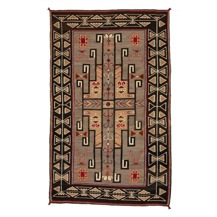 "Teec Nos Pos Navajo Weaving : Antique : GHT 2024 : 78"" x 57"""