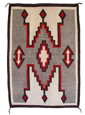 Crystal / Storm Pattern Navajo Weaving : Historic : GHT 1011 - Getzwiller's Nizhoni Ranch Gallery