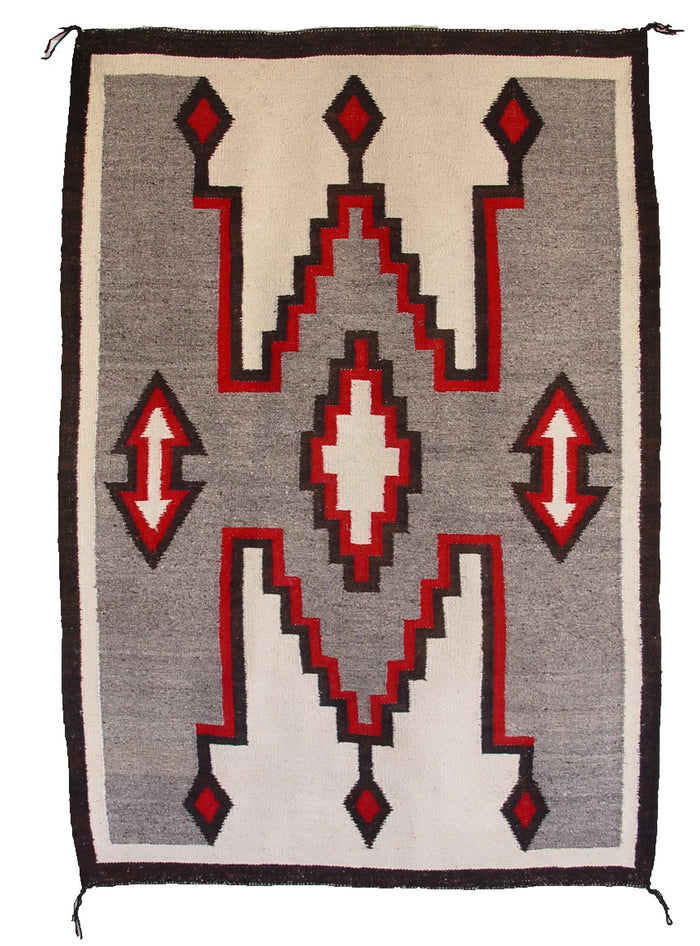 HOLD Crystal / Storm Pattern Navajo Weaving : Historic : GHT 1011