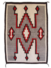 Crystal / Storm Pattern Navajo Weaving : Historic : GHT 1011