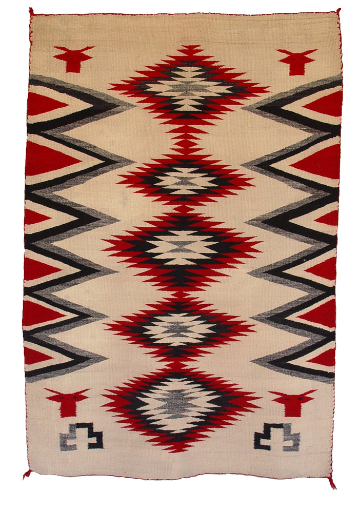 "Double Navajo Saddle Blanket Pictorial : Historic : GHT 1018 : 38"" x 54"""