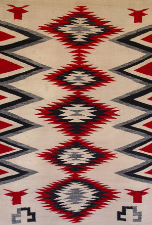 Pictorial - Cow Head Navajo Weaving : Historic : GHT 1018 - Getzwiller's Nizhoni Ranch Gallery