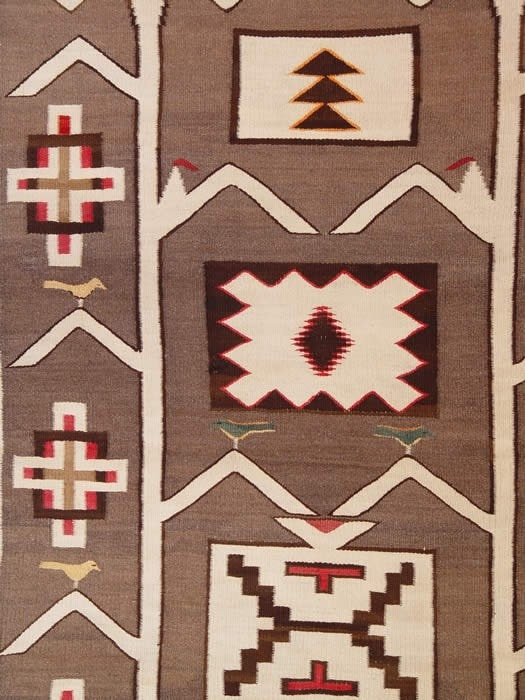 Tree of Life Yei Pictorial Navajo Rug