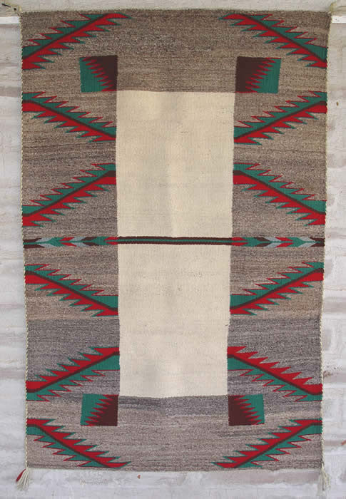 Double Saddle Blanket : Historic Navajo Weaving : GHT 1059 - Getzwiller's Nizhoni Ranch Gallery