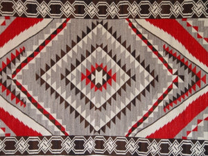 "Crystal / Chinle Navajo Weaving : Historic : GHT 1081 : 3'9"" x 8'8"" - Getzwiller's Nizhoni Ranch Gallery"