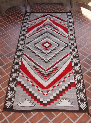 Crystal / Chinle Navajo Weaving : Historic : GHT 1081 : 45″ x 104″ - Getzwiller's Nizhoni Ranch Gallery
