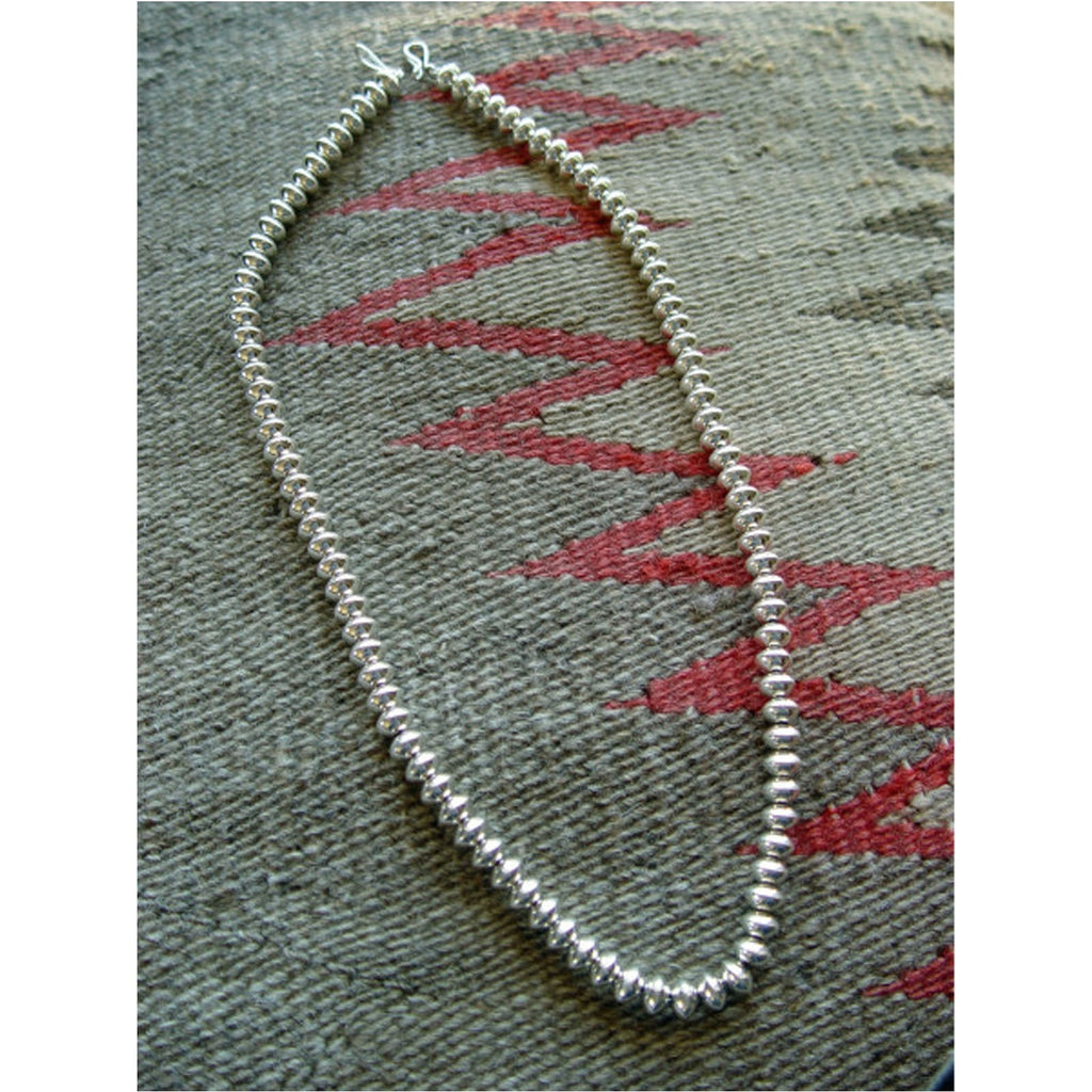 SOLD Jewelry : Hand crafted silver bead necklace : Tashena Long : NAJ-N26 - Getzwiller's Nizhoni Ranch Gallery