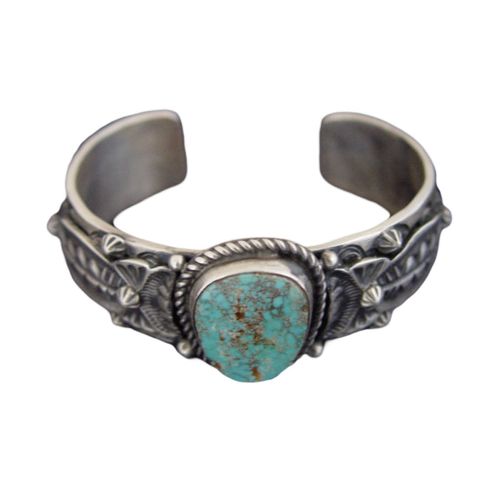 Native American Jewelry : Navajo : Turquoise Bracelet : Lorenzo James :  NAJ-11