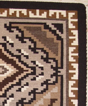 Two Grey Hills Navajo Weaving : Rhonda Begay : 1260 - Getzwiller's Nizhoni Ranch Gallery