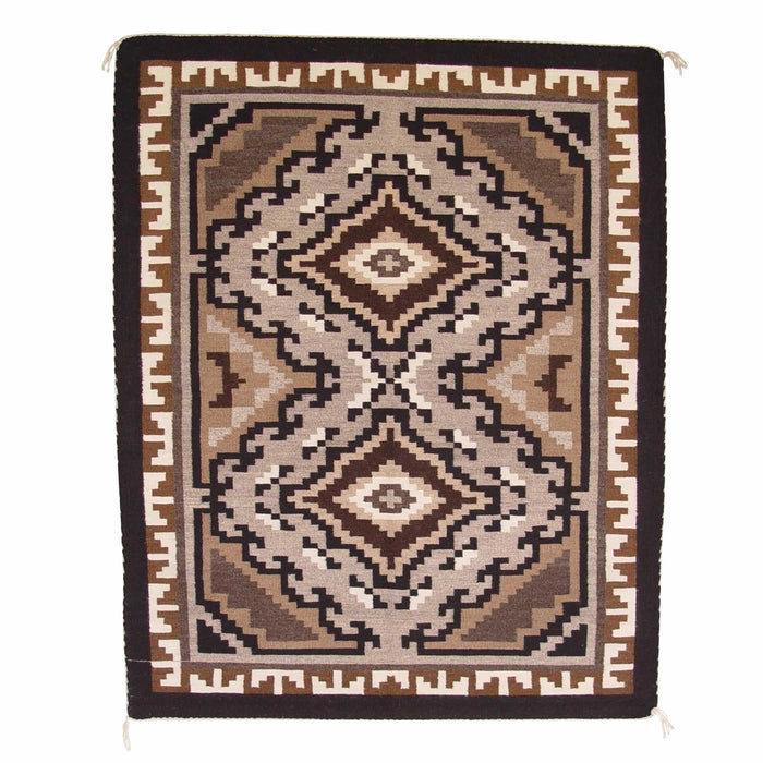 Two Grey Hills Navajo Weaving : Rhonda Begay : 1260