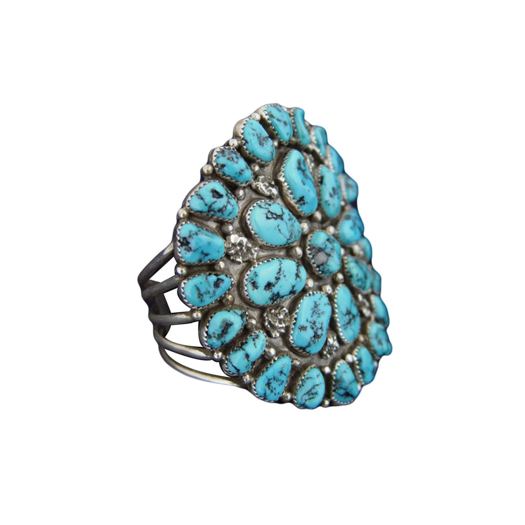 Jewelry : Silver And Turquoise Cuff Bracelet : NAJ-3 - Getzwiller's Nizhoni Ranch Gallery