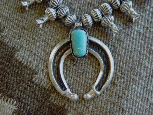 Native American Jewelry : Navajo: Man's Squash Blossom Necklace : Chris Hale : NAJ-28N - Getzwiller's Nizhoni Ranch Gallery