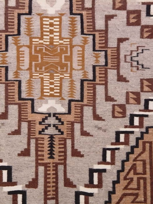 Two Grey Hills Navajo Weaving : Anna Chee : 1349 - Getzwiller's Nizhoni Ranch Gallery