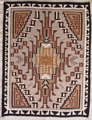 Two Grey Hills Navajo Weaving : Anna Chee : 1349