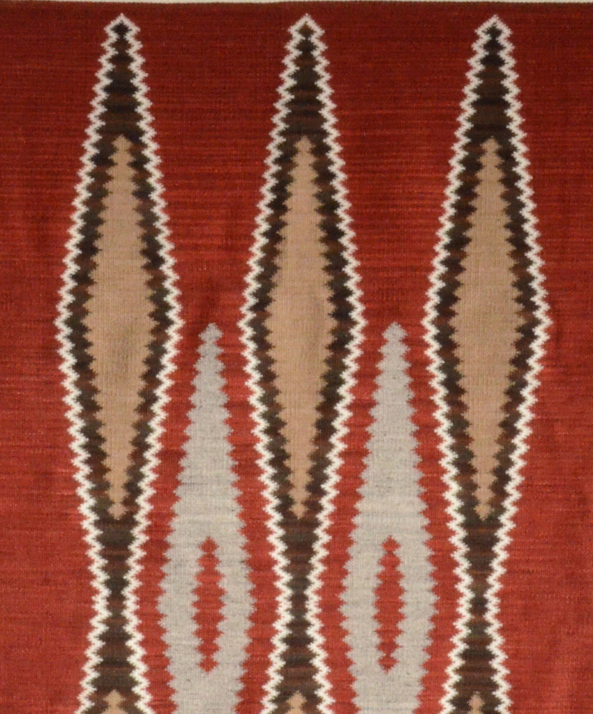 Ganado Navajo Churro rug with brown and rust colors