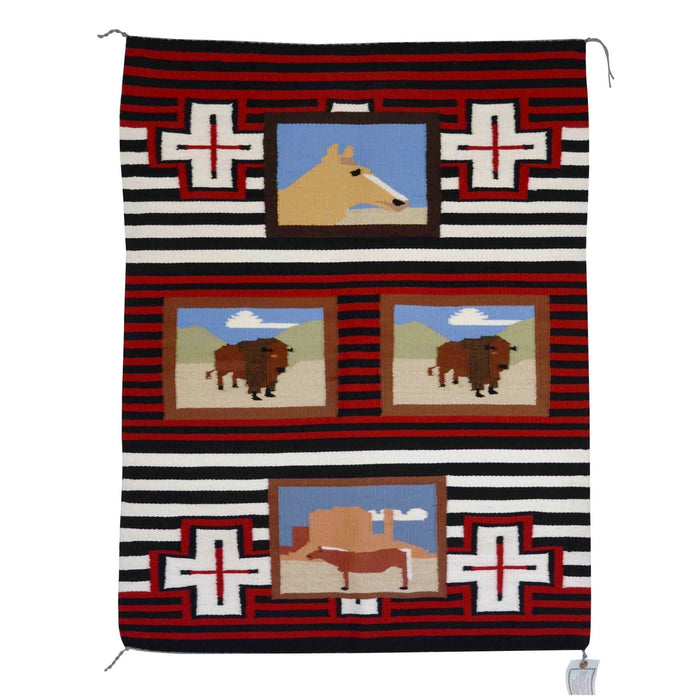 "Pictorial - American Indian Weaving : Leroy Yazzie : 1897 : 29"" x 39"""