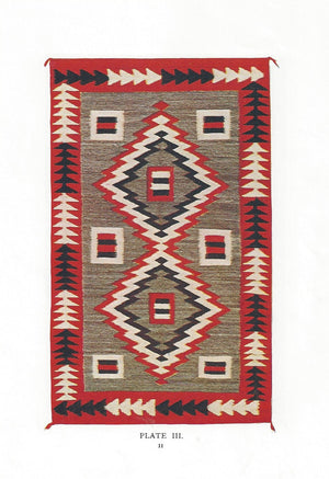 Crystal JB Moore Plate III and XI Variant Navajo Weaving : Historic : GHT 1941 : 50″ x 76″ - Getzwiller's Nizhoni Ranch Gallery