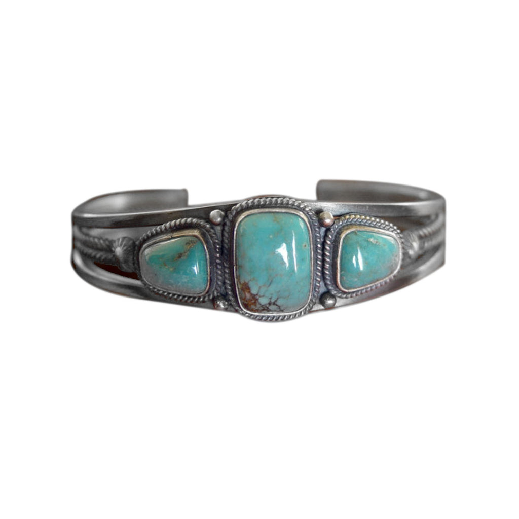 Jewelry : Turquoise Navajo Cuff Bracelet :Steve Arviso - Getzwiller's Nizhoni Ranch Gallery
