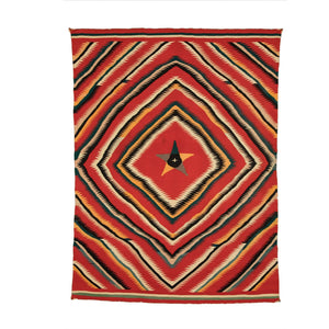 "Pictorial - Great Star Native American Rug : Antique : PC 81 : 62"" x 83"" - Getzwiller's Nizhoni Ranch Gallery"