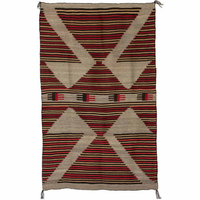 "Crystal Optical Navajo Rug Weaving : Historic : PC 45 : 40"" x 65"""